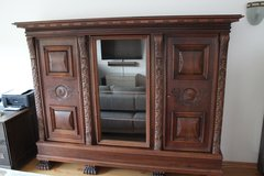 Wonderful antique book cabinet with Lion feet solid wood in Heidelberg, GE