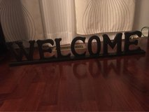 "Welcome Sing For Home Decoration 34""x6,5"" in New Lenox, Illinois"