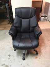 Black cushioned leather armchair in Camp Pendleton, California