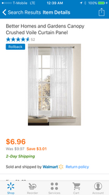 White Curtain Panels [2] in Beaufort, South Carolina