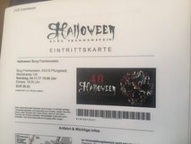 5 Tickets !!!! Halloween at Burg Frankenstein in Baumholder, GE