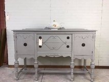 Antique Buffet painted in a soft gray linen color. It's beautiful and perfect for your holiday e... in Fort Leonard Wood, Missouri