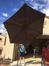 9 Foot Adjustable Umbrella with Stand in Luke AFB, Arizona