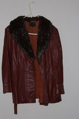 Faux leather and Faux Fur Jacket (Womens) in Alamogordo, New Mexico