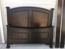 Dark Wood Queen Bed Frame in Lawton, Oklahoma