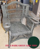 green wicker chair in Batavia, Illinois