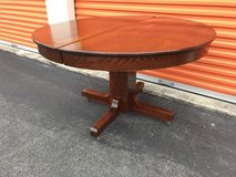 "Antique Oak Round Table w/ Pedestal Base 48 1/2"" R in Cherry Point, North Carolina"