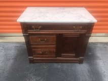 Walnut Marble Top Wash Stand in Cherry Point, North Carolina