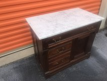 Antique Walnut Marble Top Wash Stand in Cherry Point, North Carolina
