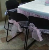 25 Pink Organza Chair Ties in Baytown, Texas