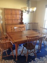 QUALITY STICKLEY DININGROOM SET (HUTCH, TABLE, AND 6 CHAIRS) in DeKalb, Illinois