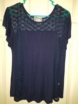 Ladies navy blue with blue lace blouse in Kingwood, Texas