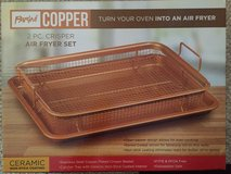 Copper Oven Non Stick Air Fryer 2 Pc Frying Basket Baking Sheet in Joliet, Illinois