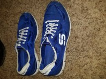 Blue Skechers flex tennis shoes in Spring, Texas