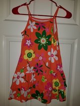 Girls orange floral sundress in Kingwood, Texas