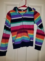 Girls rainbow striped jacket in Spring, Texas