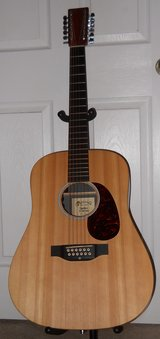 Martin D12X1 Custom 12 string acoustic - electric guitar & hard shell case in Fort Polk, Louisiana