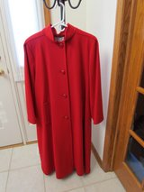 Red Wool Dress Coat in Plainfield, Illinois