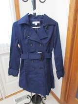 Blue Trench Coat in Algonquin, Illinois