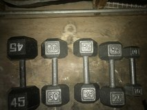 Weights in 29 Palms, California