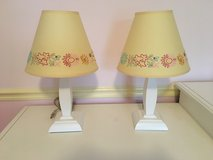Pottery Barn Kids Lamp - White Wooden Base with Yellow Shade in Plainfield, Illinois