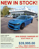 2016 Dodge Charger RT Scat Pack in Grafenwoehr, GE