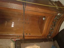 antique oak lighted curio cabint in Lake Charles, Louisiana