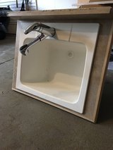 Outside Mount Utility Sink + Moen Pull-out Faucet in Batavia, Illinois