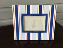 Large Decorative Wooden Picture Frame - Red & Blue;  5x7 Picture in St. Charles, Illinois