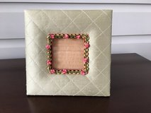 Picture Frame - Small Green Silk Fabric with Flowers in Chicago, Illinois