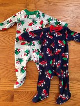Flannel 3-6 month holiday pj's in Naperville, Illinois