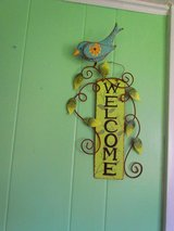 Metal Art Welcome Sign W/Bird in Joliet, Illinois