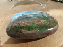 hand painted rock in Fort Polk, Louisiana