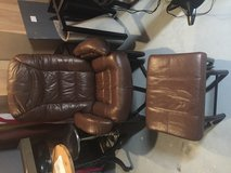 Leather reclining chair and ottoman in Joliet, Illinois