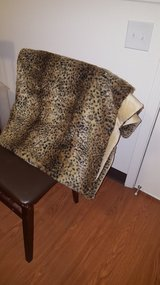 Leopard Faux Fur Throw Blanket in Fort Bliss, Texas