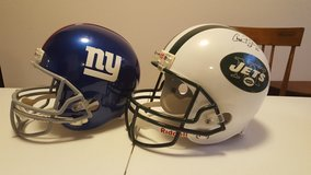 NFL New York Helmets in Fort Bliss, Texas