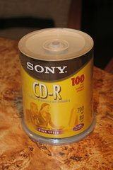 Sony cd recordables 700 mg 100 pack 1X-48X in Orland Park, Illinois