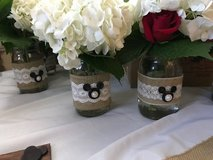 "Burlap and Lace ""Mickey"" / Disney mason jars/vases - 18 available in Sandwich, Illinois"