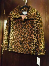 Cheetah Print Jacket New w/tags Woman's  - Med in Quad Cities, Iowa