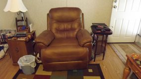Med. Brown leather recliner in Cherry Point, North Carolina