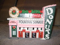 Coca Cola Coke Christmas Town Square Collection Betty's Donuts in Elgin, Illinois