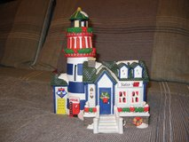 Coca Cola Coke Christmas Town Square Collection Rocky Craig Lighthouse in Bartlett, Illinois