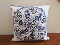 Blue Patterned Pillow in Algonquin, Illinois
