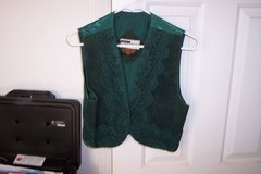 Green Suede Vest SZ small in Alamogordo, New Mexico