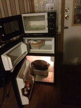 Microwave and small freezer in Macon, Georgia