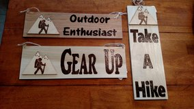 Hiking Wood Burned Signs in 29 Palms, California