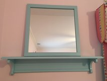 LAND OF NOD Matching Mirror + 3 Ft. Wall Shelf - Light Blue in Chicago, Illinois