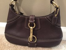 Coach Purse - Brown with Brass Buckle in Plainfield, Illinois