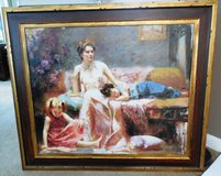 Very Large Signed and Ornately Framed LE Pino Lithograph in Tomball, Texas