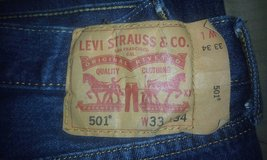 levi 501 shrink to fit ,,, i washed them before trying on too tight now,,lol in Lawton, Oklahoma